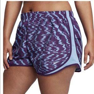 New Nike Dri-Fit Track Gym Shorts Purple Blue